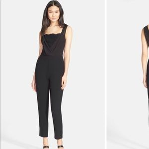 NEW! TED BAKER SAUNTON black jumpsuit sz 2 M